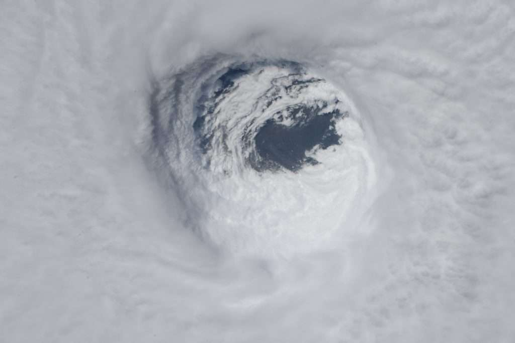 A view of the eye of Hurricane Michael taken on Oct. 10, 2018 from the International Space Station currently orbiting Earth. The photo was taken by astronaut Dr. Serena M. Auñón-Chancellor, who began working with NASA as a Flight Surgeon in 2006. In 2009, she was selected as a NASA astronaut. Credit: NASA
