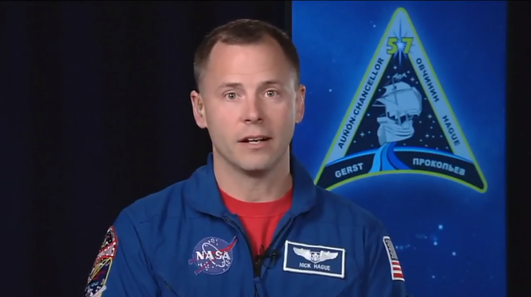 NASA Astronaut Nick Hague speaks with reporters for the first time since an emergency landing cut short his mission to the International Space Station. Photo: NASA / YouTube