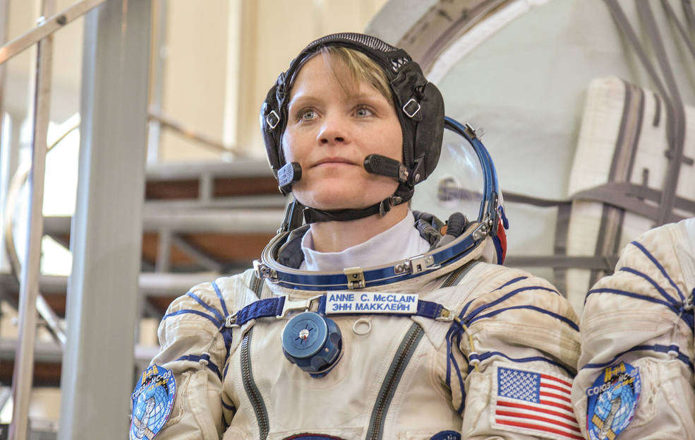 NASA astronaut Anne McClain listens to a reporter's question May 10 following her final Soyuz qualification at the Gagarin Cosmonaut Training Center in Star City, Russia. Photo: NASA/Elizabeth Weissinger