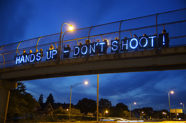 """""""Standing with Michael Brown"""" Photo taken by Joe Brusky. Used with permission"""