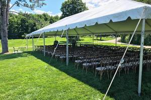 Wedding tent with theatre seating