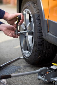 Tire services, such as computer spin balancing, rotations and flat repair