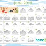 HomeLife Family Time Calendar | June 2016