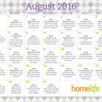 HomeLife Family Time Calendar   August 2016