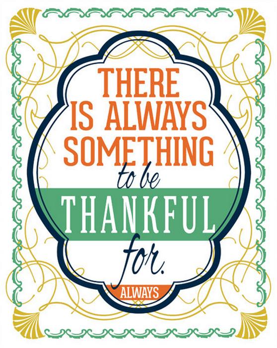 Fancy That. Be Thankful