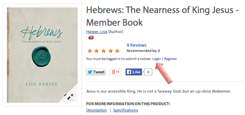 Hebrews Product Page on LifeWay.com