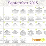 September Family Time Calendar and Scripture Art