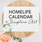 HomeLife Family Time Calendar and Scripture Art | October 2017