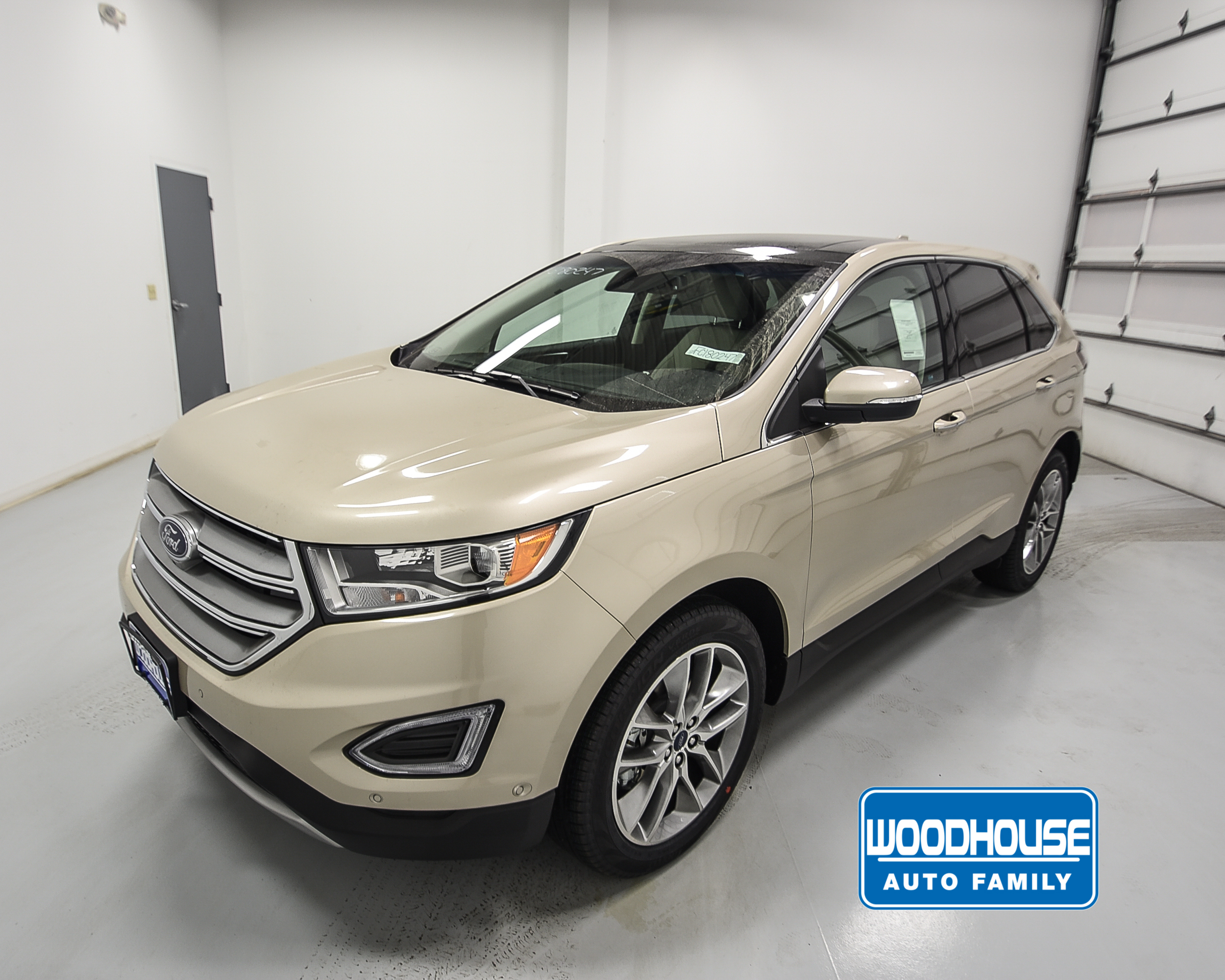 gold 2018 ford edge titanium for sale omaha ne woodhouse ford. Black Bedroom Furniture Sets. Home Design Ideas
