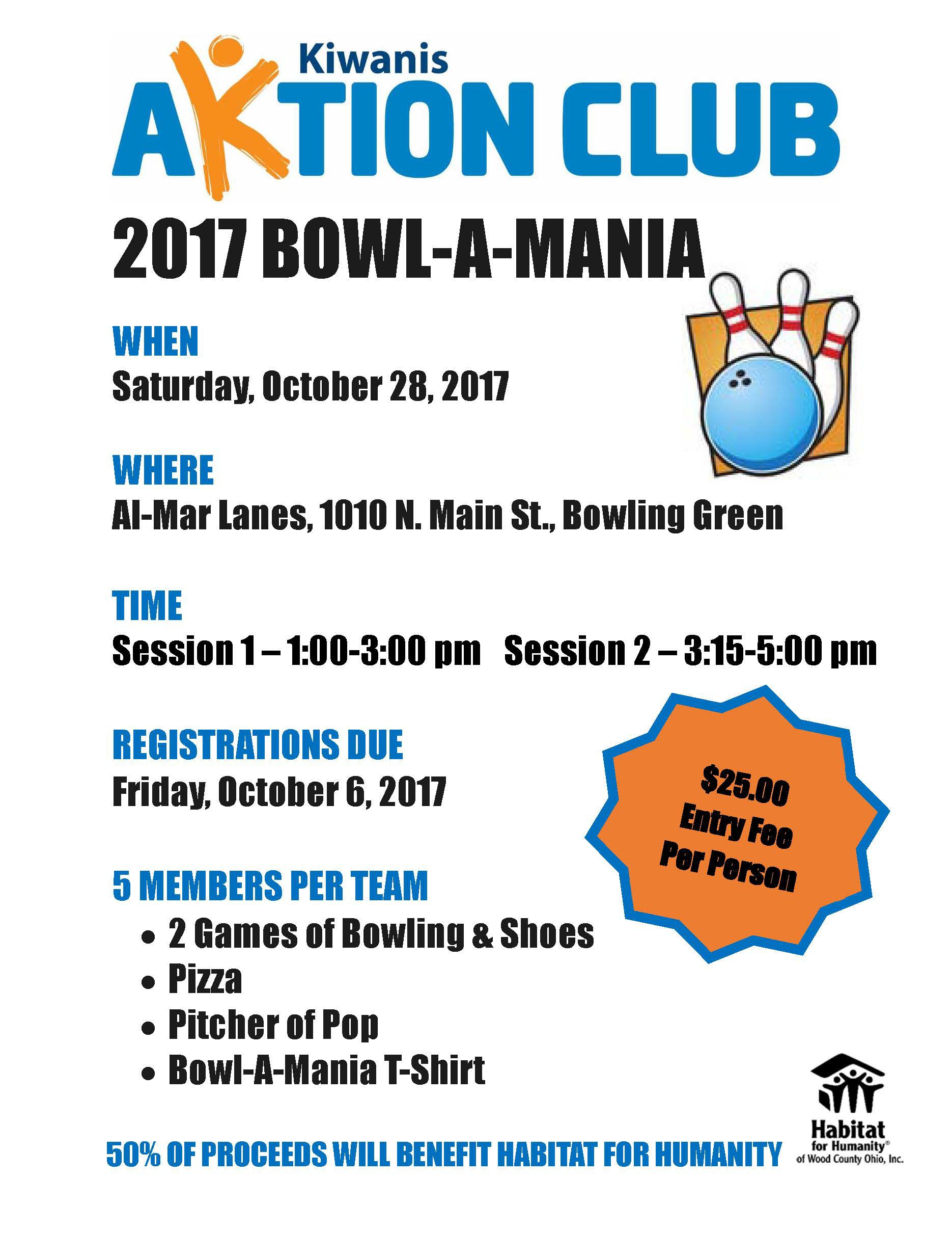 Bowl A Mania Flyer Page 1