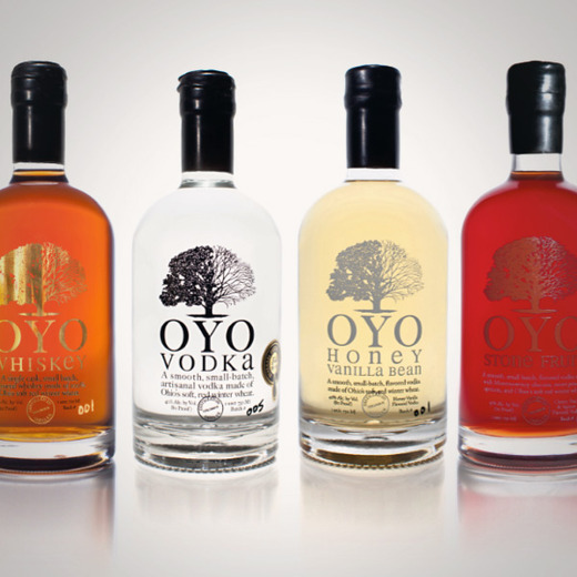 Oyo honey vanilla bean vodka over
