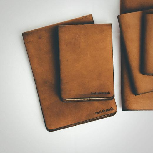 Bull stash notebook over