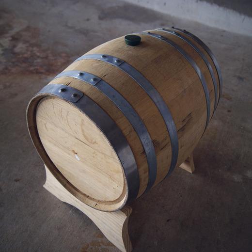 Blue corn whiskey barrel
