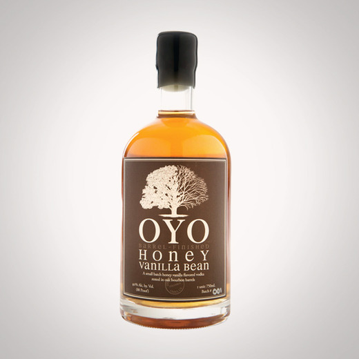 Oyo honey vanilla bean vodka