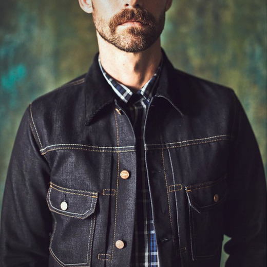 Denim jacket selvedge