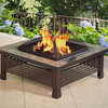 Rubbed Bronze Steel Wood-Burning Fire Pit