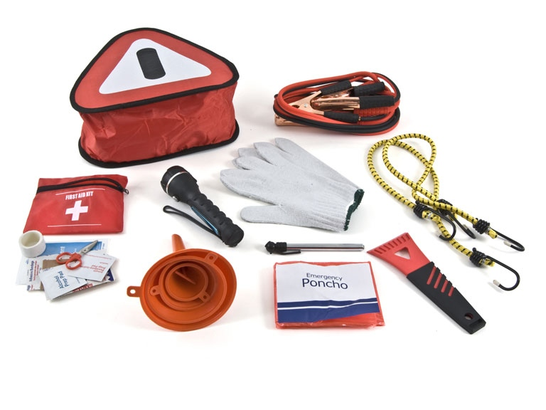 Car Emergency Kit With Jumper Cables
