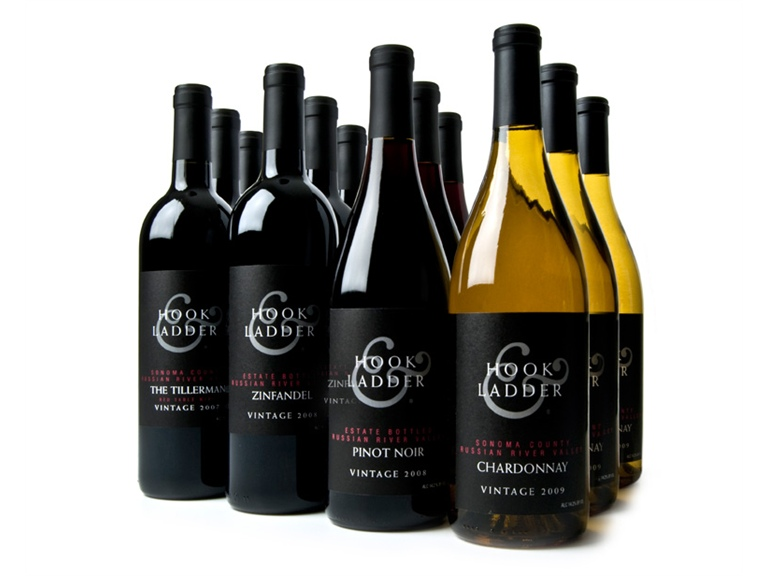 Hook amp ladder vineyard amp winery russian river mixed case wine woot
