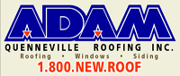 Website for Adam Quenneville Roofing, Siding & Windows, Inc.