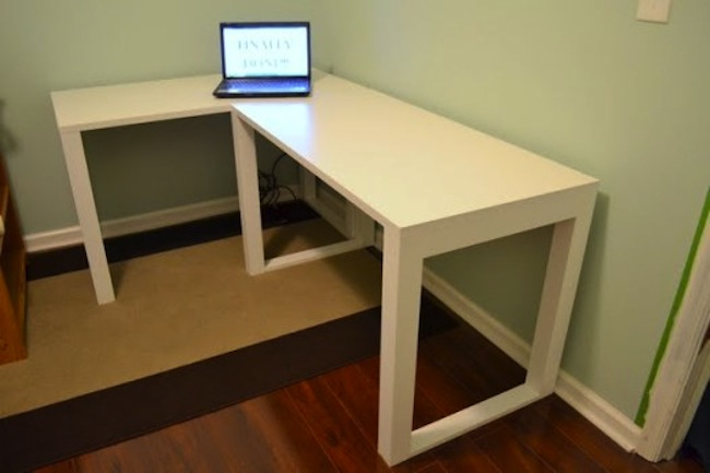 diy corner computer desk plans build l shaped desk
