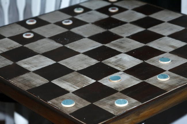 DIY Wood Games - Checkers