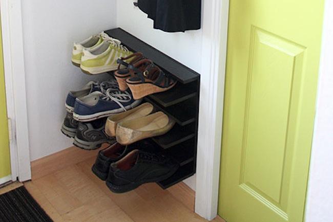 Pdf diy floating shoe rack plans download floating wall for Diy wall shoe rack