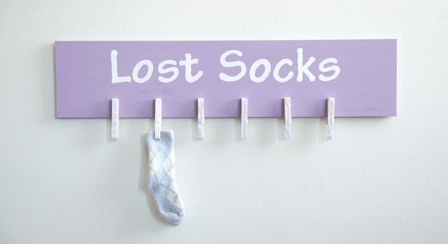 DIY Laundry Room Storage - Sock Board