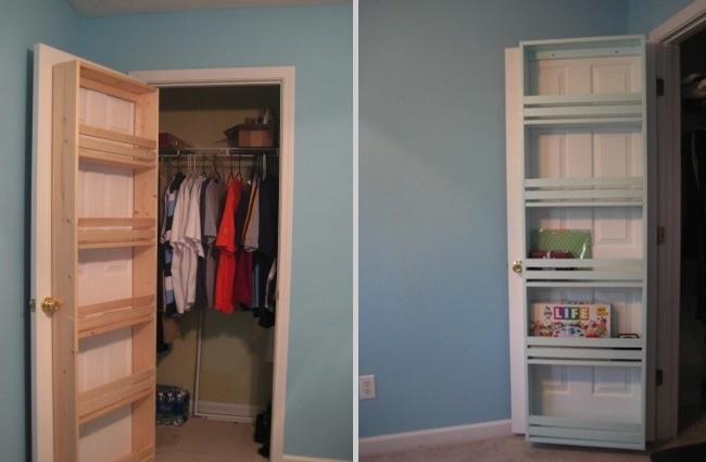 DIY Closet Organizer - Door Shelf