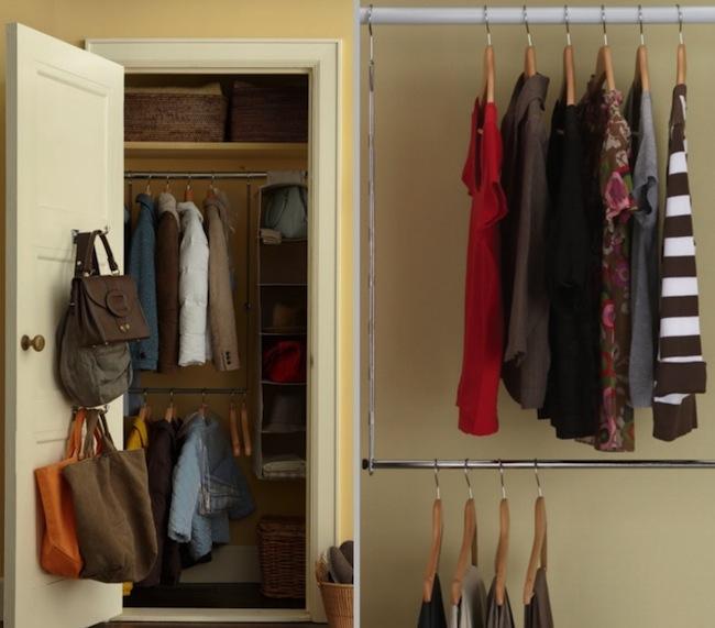 DIY Closet Organizer - Double Rod