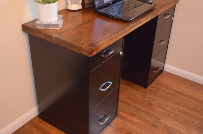 DIY File Cabinet Projects - Desk