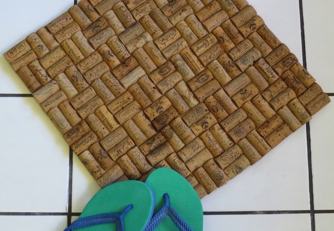 Wine Cork Projects - Bathmat