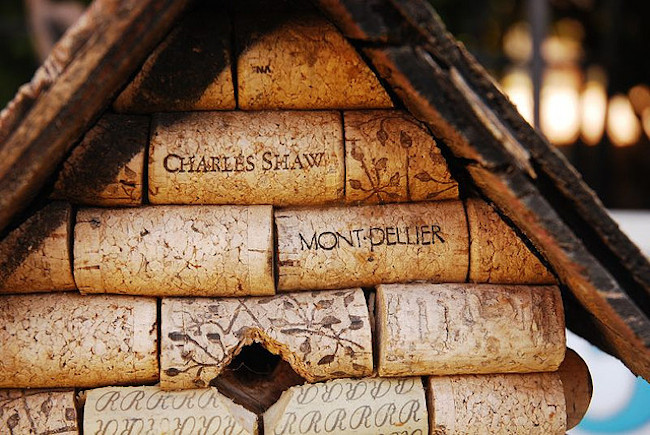 Wine Cork Projects - Birdhouse