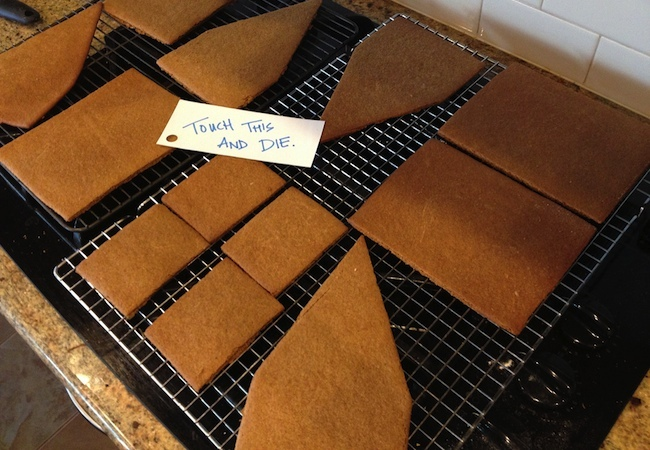 How to Make a Gingerbread House - Cooling