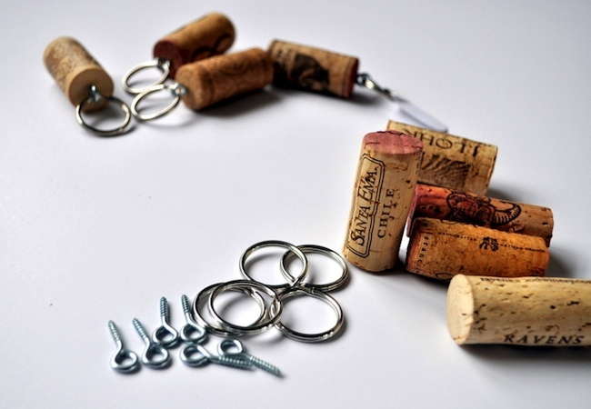 Wine Cork Projects - Keychain