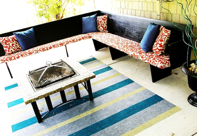 DIY Rug - Painted