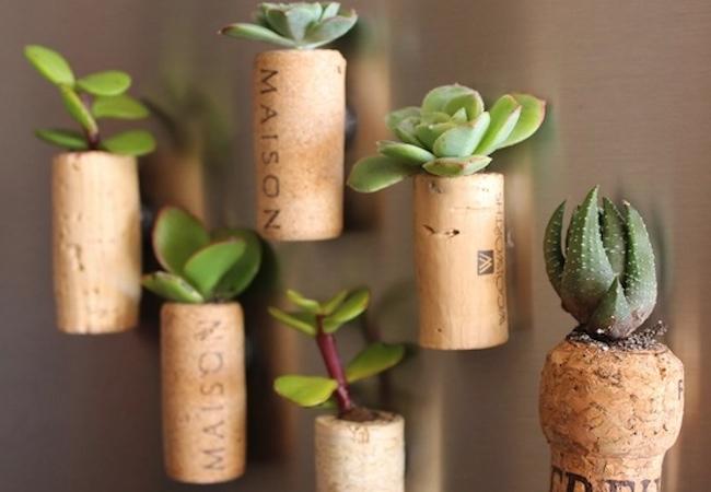 Wine Cork Projects - Planter