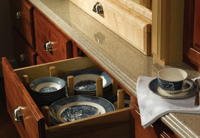 Uses for Dowels - Dish Storage