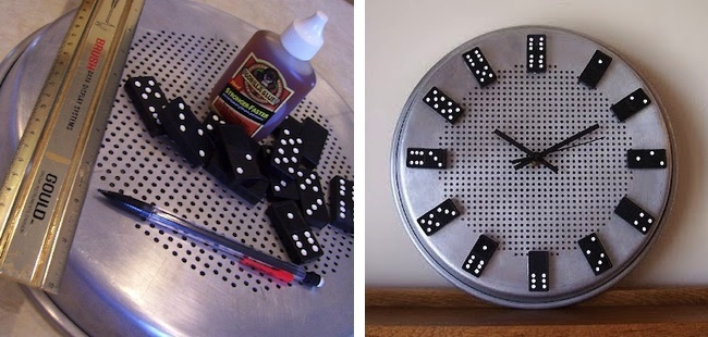 DIY Clock - Dominoes