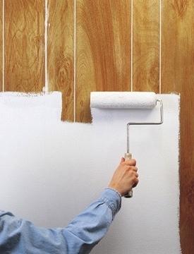 how to paint wood paneling bob vila. Black Bedroom Furniture Sets. Home Design Ideas