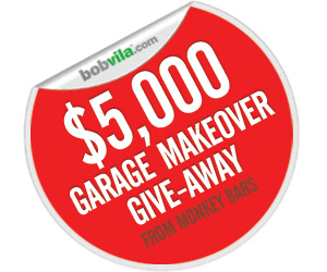 Bob Vila's $5,000 Garage Makeover Give-Away