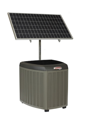 Lennox SunSource Condenser with Solar Panel