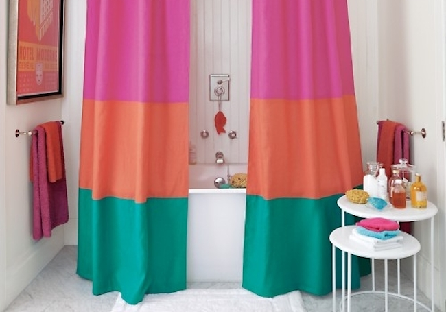 How to Make a Shower Curtain - Color Block