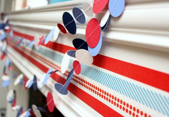Washi Tape Projects - Mantel