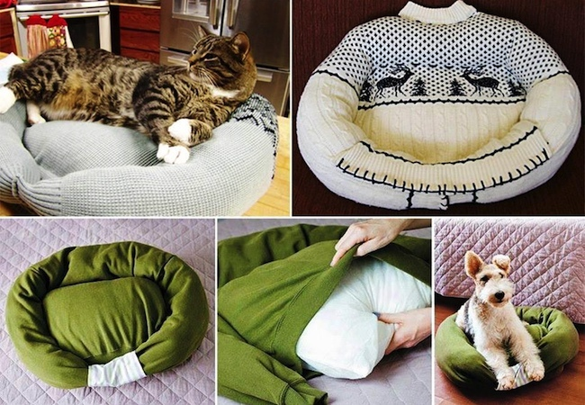 Recycled Sweaters - Pet Bed