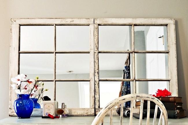 diy mirror frame projects repurposed window - Window Frame Mirror