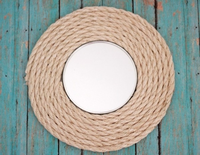 DIY Mirror Frame Projects - Rope