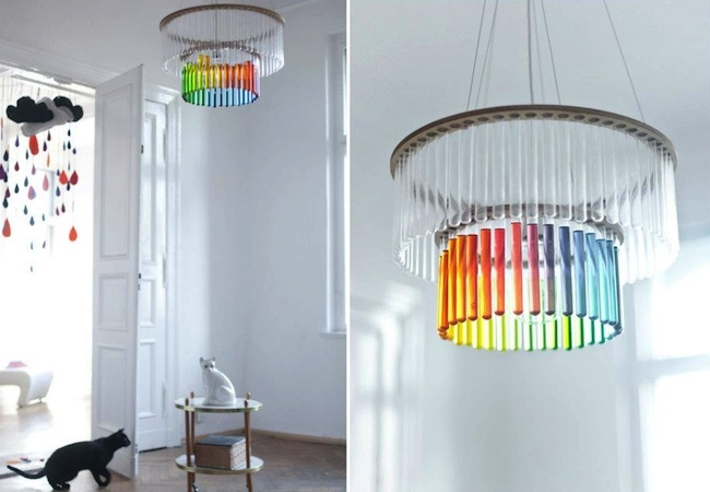 Test Tube Crafts - Chandelier