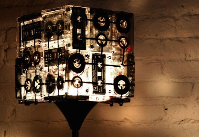 Cassette Tape Recycling - Lamp Shade