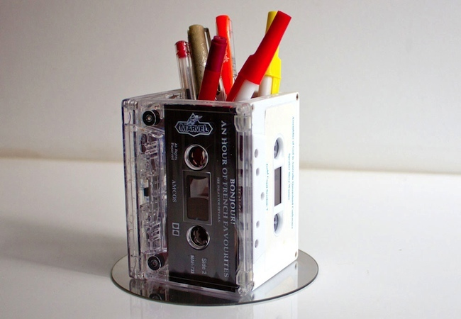 Cassette Tape Recycling - Pencil Holder