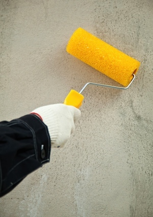 How to Paint Concrete - Roller